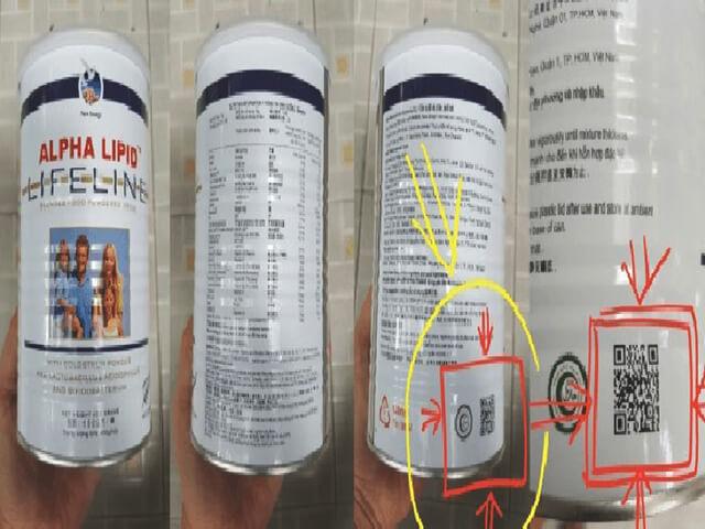 Nhận biết sữa non Alpha Lipid thật giả
